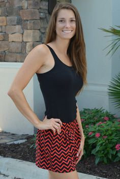 """Extra 15% OFF TODAY! Use Code """"SecretSale"""". 8/10/2014 -SHE'S GONE CHEVRON Red Black Chevron Shorts Shop Simply Me Boutique – Simply Me Boutique"""