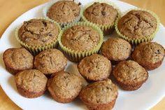 Whole wheat banana chocolate chip muffins