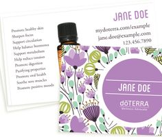 8 best amazing doterra business cards images on pinterest doterra whimsical theme purple doterra business card flashek Image collections