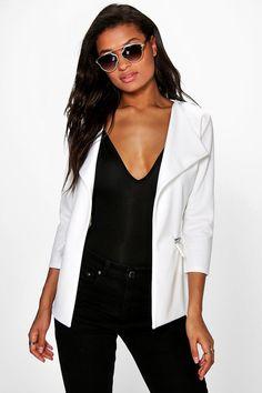 Keira Zip Pocket Tailored Blazer