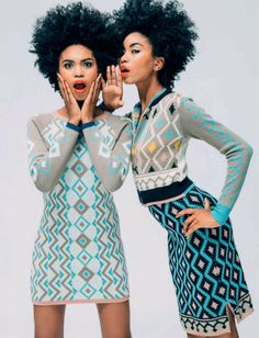 Twin models Suzana & Suzane Massena of Brazil - Double Vision: Meet the Pairs of Twins Who Are Revolutionizing African Fashion (PHOTOS)� �Chayet Chi�nin
