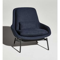 Inexpensive Option, but Limited Fabric Choice. Blu Dot Field Lounge Chair in Edwards Navy Accent Chairs For Living Room, My Living Room, Cozy Living, Chair Design, Furniture Design, Plywood Furniture, Furniture Ideas, Modern Furniture, Toddler Table And Chairs