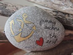 Friendship Anchors the Soul inspirational hand by TheSeashoreStore, $10.00