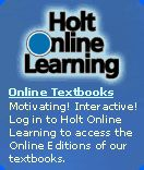 Holt Algebra 2 includes Chapter projects, Homework help, Glossary and Lab Resources