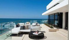 garde corps extérieur, balustrade tout verre, jolie maison moderne