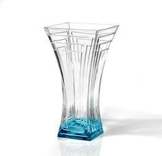 Czech Bohemian Crystal Crystal Vase, Colored Glass, Czech Glass, Picasso, Glass Art, Sculpture, Antiques, Modern, Classy
