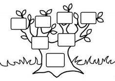 Moja rodzina drzewo szablon | funnycrafts