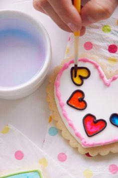 Pen N' Paper Flowers: COOKIES | Rainbow Unicorn Birthday Party :: Paint-by-Party Sugar Cookies