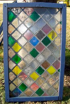 Faux stained glass tutorial on plexiglass sheet with for Acrylic vs glass windows