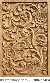 Find Pattern Flower Carved On Wood Background stock images in HD and millions of other royalty-free stock photos, illustrations and vectors in the Shutterstock collection. Thousands of new, high-quality pictures added every day. Wood Carving Designs, Wood Carving Patterns, Wood Carving Art, Wood Art, Wooden Door Design, Main Door Design, Wooden Doors, Best Wood For Carving, Art Sculpture En Bois