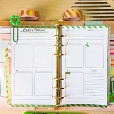 Weekly Planner Personal Size Inserts with Erin by EasyLifePlanners