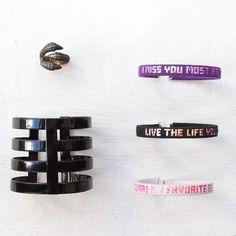 Gianlisa ring, Rainbowlink cuff & bracelets on Les trouvailles d'Elsa.fr