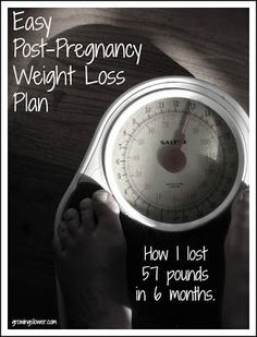 Easy Post Pregnancy Weight Loss Plan {Part 1}: How I lost 57 pounds of baby weight in 6 months. www.growingslower.com