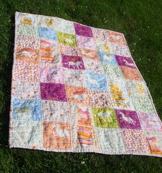 Heather Ross FFA1 quilt ... LOVE that double gauze!