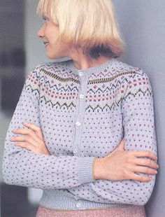 Knit Cardigan Pattern, Fair Isle Knitting, Color Patterns, Free Pattern, Pullover, Sweaters, Diy, Fashion, Hobbies