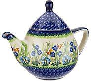 Lidias Polish Pottery 1 Liter Atena Teapot - H212208