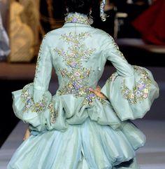 blue glitter back Christian Dior haute couture f/w 2007