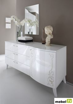Włoska komoda z kolekcji CARLA - sklep meblowy Commode Design, Komodo, Luxury Furniture, Modern, Dresser, Vanity, Cabinet, Storage, Shopping