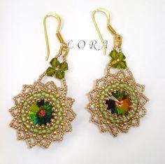 Beaded earring. Серьги by Lora