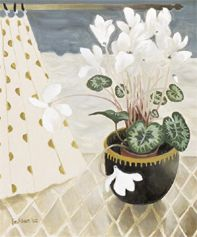 Mary Fedden - White Cyclamen 2002 (Limited Edition Print) – The Mulberry Tree Gallery Kunst Online, Online Art, Art And Illustration, Art Floral, Still Life Art, Michelangelo, Matisse, Botanical Art, Paintings For Sale