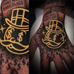 Tattoo artist Jake Gordon, authors style color traditional tattoo with black ornamentalistic background | USA