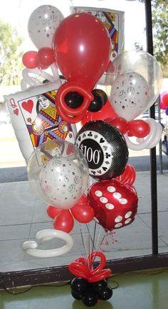 Casino theme balloons