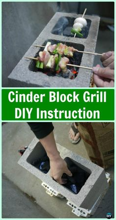 DIY Cinder Block Grill Instruction - DIY Camp Grill Projects