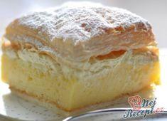 Docela obyčejný krémeš | NejRecept.cz Thing 1, Strudel, Camembert Cheese, Hamburger, Cheesecake, Food And Drink, Pudding, Bread, Baking