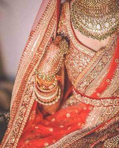 Pre curated Latest Indian wedding Lehenga style pics for you! Sabyasachi to Manish Malhotra, from Rohit Bal to Tarun Tahiliani find all the inspiration here Indian Wedding Lehenga, Big Fat Indian Wedding, Indian Wedding Outfits, Indian Outfits, Indian Weddings, Indian Sarees, Dulhan Dress, Sabyasachi Dresses, Orange Lehenga