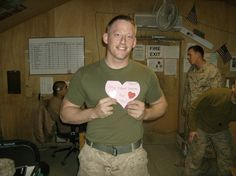 Solider receives ESA Valentine