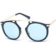 Chicnova Fashion Vintage Round Sunglasses ($12) ❤ liked on Polyvore featuring accessories, eyewear, sunglasses, uv protection glasses, vintage glasses, round sunglasses, adjustable glasses and vintage round sunglasses