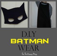 DIY Batman cape and mask for kids