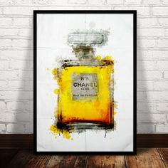 Chanel No. 5 parfume bottle painting chanel by ShufflePrints, $22.00