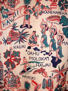 Kuu - Ipo - 50s Hula Girl Hawaii State Hula Girls Rayon Vintage Aloha Shirt - TheHanaShirtCo