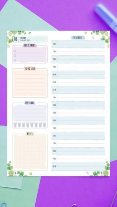 Ultimate Collection of more than 400 printable planner templates. Easy to customize right in the web browser and download PDFs for creating your own unique planner. #daily #planner #hourly #template #printable #schedule Best Daily Planner, To Do Planner, Daily Planner Pages, Hourly Planner, Planner Layout, Daily Planners, Blog Planner, Time Planner, Daily Agenda