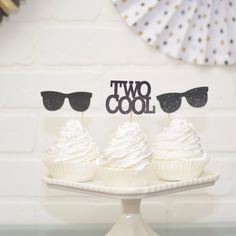 Two Cool Cupcake Toppers for birthday party pool party birthday party themes 2nd Birthday Party For Boys, Birthday Bash, Baby Birthday, Birthday Ideas, Cupcakes For Boys, Fun Cupcakes, Cupcake Party, Fun Party Themes, Party Ideas