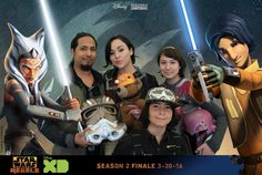 The Rogue Rebels at the Star Wars Season 2 Finale Screening!