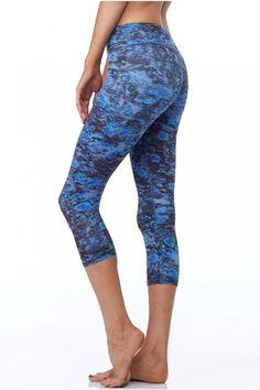 Keep it short with the new Dusk to Dawn Capri Leggings from Beyond Yoga.  This printed style mixes the colors of the night on a silky material that helps you stay cool no matter how hot it gets.