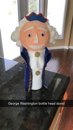 Discover recipes, home ideas, style inspiration and other ideas to try. George Washington Cartoon, George Washington Biography, School Projects, Projects For Kids, Class Projects, Bottle Buddy, Washington Tattoo, Washington Art, Biography Project