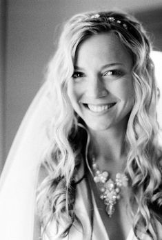 Brides.com: Wedding Hairstyles that Work Well with Veils. Sexy, Wavy Wedding Hairstyle for Long Hair. Tousled beachy hair looks fantastic on a bride. Add a barely-there headband and full tulle veil to turn up the look.   Browse more beachy wedding hairstyles.