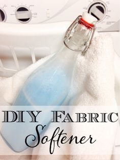 Tired of overpriced fabric softener? Check out this easy DIY Fabric Softener that you can make at home.