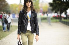 Model Antonina Petkovic's Simpsons T-Shirt - Street Style, Weekend Outfit Ideas, Shopping
