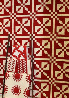 red and white quilts would be gorgeous in blue and white or yellow and white