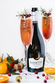 Clementine Cranberry Prosecco Cocktail