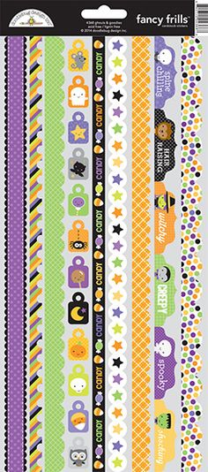 Doodlebug Design Ghouls and Goodies Fancy Frills Stickers