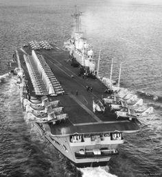 HMS Ark Royal R 09 Audacious class aircraft carrier Royal Navy Royal Navy Aircraft Carriers, Navy Carriers, British Aircraft Carrier, Royal Navy Submarine, Hms Ark Royal, New Aircraft, Naval History, Military Photos, Armada