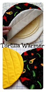 our kids Tortilla Warmer Tutorial. Just in time for Cinco de Mayo I've created this Tortilla Warmer Tutorial. Simply slide your tortillas inside then pop in the microwave for about 30 seconds. Your tortillas will come out nice and warmed! *this post. Sewing Hacks, Sewing Tutorials, Sewing Crafts, Sewing Tips, Tutorial Sewing, Sewing Ideas, Sewing Basics, Diy Gifts Sewing, Leftover Fabric