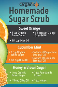 DIY SUGAR SCRUB: Here's a homemade sugar scrub recipe for you, made with essential oils. Click above to find out what sets Organixx Essential Oils apart from other oils on the market. Body Scrub Recipe, Sugar Scrub Recipe, Zucker Schrubben Diy, Sugar Scrub Homemade, Homemade Hair, Homemade Beauty, Diy Scrub, Coconut Oil For Skin, Organic Essential Oils
