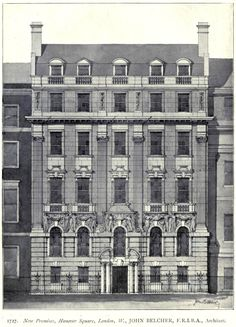 Projected building on Hanover Square in 1899, London