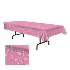 Its A Girl Pink Printed Plastic Tablecover. Great for any baby shower! Find it at http://www.ezpartyzone.com/pd-its-a-girl-pink-printed-plastic-tablecover.cfm